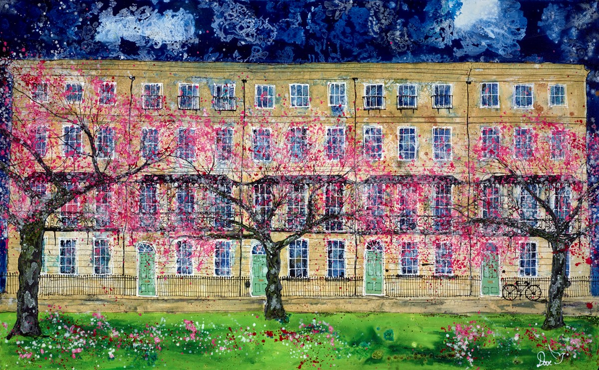 Blossom in Blue by katharine dove -  sized 45x28 inches. Available from Whitewall Galleries